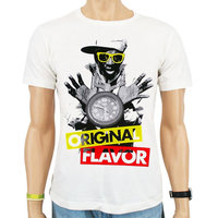 Flava Flav Original Flavor Hip Hop Heren Wit T-shirt