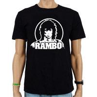 Rambo Heren Zwart slim-fit T-shirt