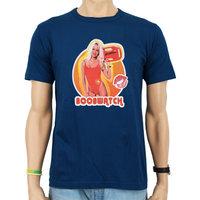 Baywatch BoobWatch Heren slim-fit Blauw T-shirt