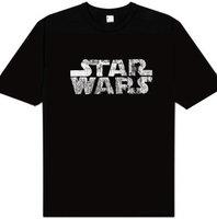 Star Wars Logo Heren easy-fit Zwart T-shirt