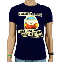 Southpark Cartman Thinking Heren slim-fit Blauw T-shirt