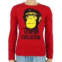 Viva La Evolucion Longsleeve Rood  shirt