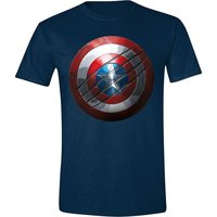 Captain America Shield NEW T-shirt voor Heren blauw