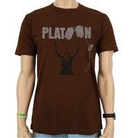Platoon Logo Heren Bruin T-shirt