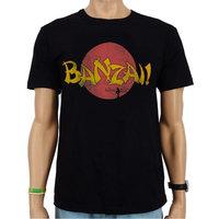 Karate Kid Banzai! Heren Vintage Zwart T-shirt