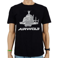 Airwolf-  Vintage Logo - Zwart Heren T-shirt