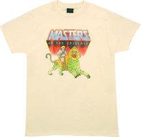 He-Man and Battle Cat Retro Heren Zand T-shirt