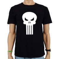 The Punisher Marvel Heren Zwart easy-fit T-shirt