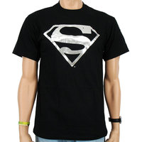 Superman Zilver Logo DC Comics Heren Zwart T-shirt