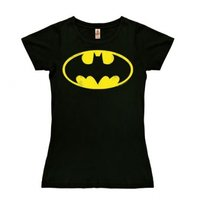 Batman - DC Comics - Dames Zwart Vintage T-shirt