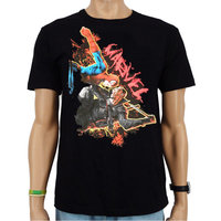 Spiderman VS Blade Marvel Heren Zwart easy-fit T-shirt