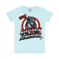 Captain America Marvel Heren Blauw slim-fit T-shirt