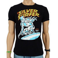 Silver Surfer Marvel Heren Zwart slim-fit T-shirt