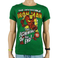 The Invincible Iron Man Marvel Heren Groen slim-fit T-shirt