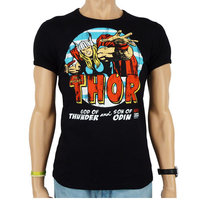 The Mighty Thor Marvel Heren Zwart slim-fit T-shirt