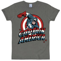 Captain America Marvel Heren Grijs slim-fit T-shirt