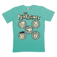 Flintstones The Family Heren Blauw Organic T-shirt