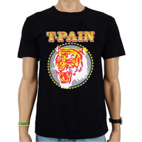 T-Pain Tiger Head Heren Zwart T-shirt