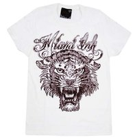 Miami Ink - Tijger Sketch Tattoo - Dames Wit T-shirt