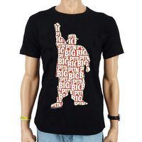BIG PUN Silhouet Heren Zwart easy-fit T-shirt