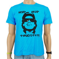 Hip Hop Eazy-E Thugster Heren Blauw easy-fit T-shirt