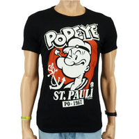 Popeye St. Pauli Heren Zwart slim-fit T-shirt