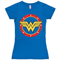 Wonder Woman Ronde Logo DC Comics Dames Blauw T-shirt