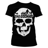 The Goonies Skull Dames Zwart T-shirt