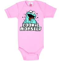 Sesamstraat - Cookie Monster - Meisje Roze Baby Romper