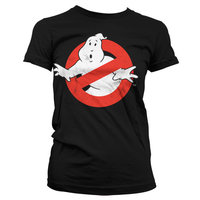 Ghostbusters Logo Vintage Dames Zwart T-shirt