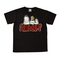 Peanuts - Snoopy - Woodstock - Zwart Heren easy-fit T-shirt