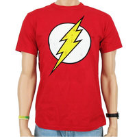 The Flash Vintage Logo DC Comics Heren easy-fit T-shirt rood