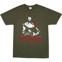 Rambo Red Bandana Heren slim-fit Groen T-shirt
