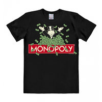 Monopoly - Heren - Zwart easy-fit T-shirt