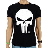 The Punisher Marvel Heren Zwart slim-fit T-shirt