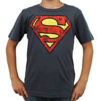 Superman Vintage Logo DC Comics Denim Blauw Kinder T-shirt