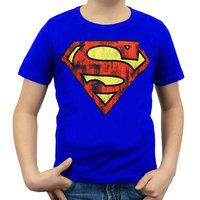 Superman Vintage Logo DC Comics Blauw Kinder T-shirt