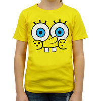 Spongebob Face Kinder Geel T-shirt