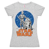 Star Wars Droids Dames Grijs T-shirt