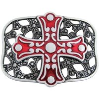 Celtic Cross - Rood - Riem Buckle/Gesp