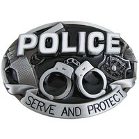 Police - Serve and Protect - Riem Buckle/Gesp