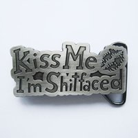 Kiss Me -I'm Shitfaced - Riem Buckle/Gesp