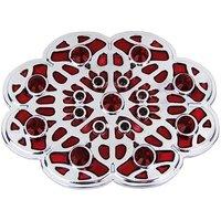Bloem met rode steentjes Riem Buckle/Gesp