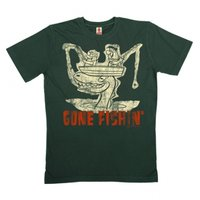 Fred Flintstone - Gone Fishin - Heren Vintage Grijs Organic T-shirt