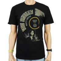 Bob Marley Natty Dread Record Heren slim-fit T-shirt zwart
