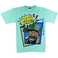 Hip Hop Flava Flav Yeah Boyeee! Heren mint groen easy-fit T-shirt