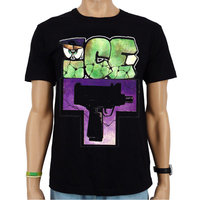 Ice T - Uzi - Hip Hop Heren Zwart T-shirt