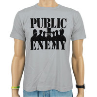 Public Enemy - Groep Silhouette - Hip Hop Heren Grijs T-shirt