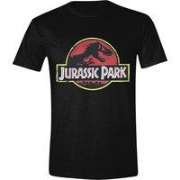 Jurassic Park Classic logo Heren zwart easy-fit T-shirt