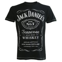 JACK DANIEL'S - CLASSIC LOGO T-SHIRT - ZWART easy-fit